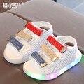 Tamaño 21-30 zapatos Led para niños zapatos brillantes para bebés sandalias iluminadas para niños zapatos luminosos para niños y niñas sandalias con luz de fondo