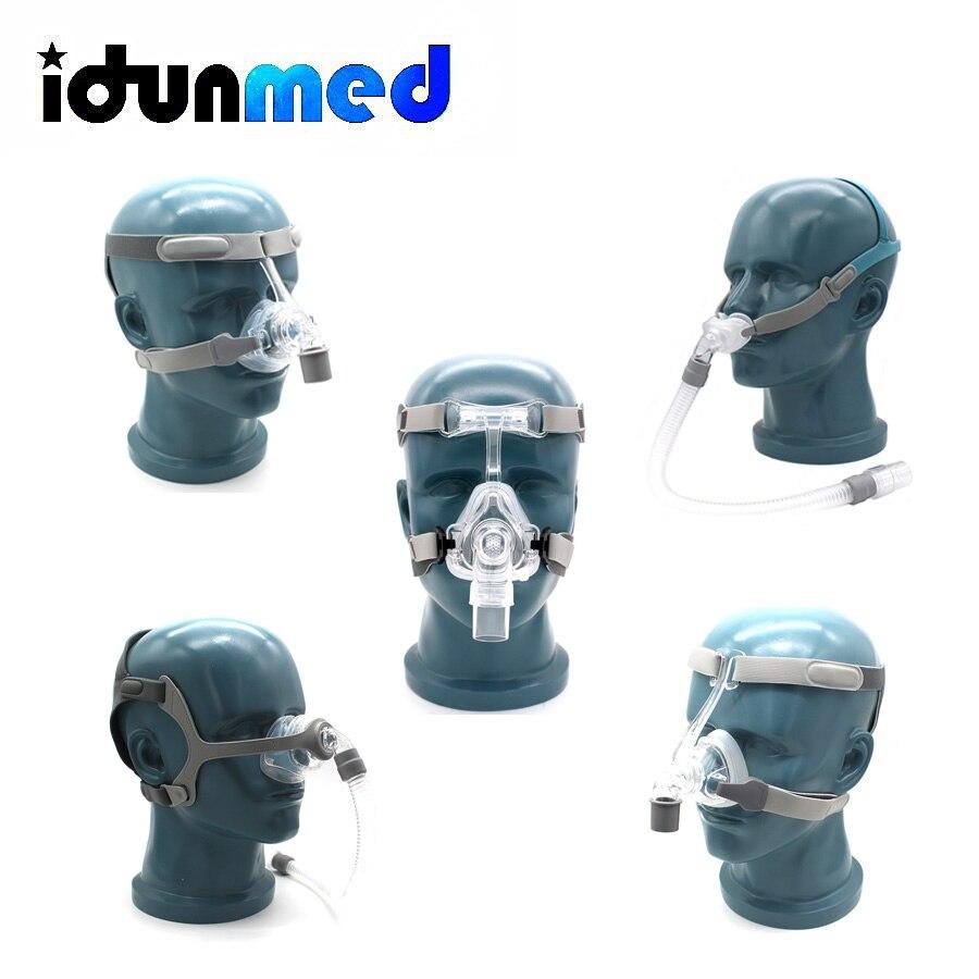 BMC CPAP назальная маска подушки силиконовые подушки 3 размера с регулируемым головной убор зажимы для сна Apean анти храп Поддержка ResMed