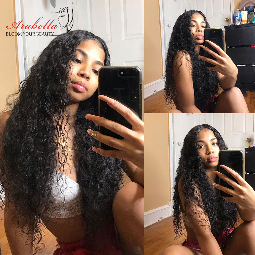 Water Wave Wig 4x4 Closure Wig With Baby Hair  PrePlucked 13x4 Lace Front Wig Arabella  Water Wave Lace Front Wig 4