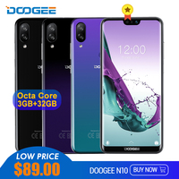 DOOGEE N10 Mobile Phone 19:9 Display 16MP Front Camera Octa Core Dual SIM 3GB 32GB 5.84'' FHD+ 3360mAh Android 8.1 4G LTE Phone