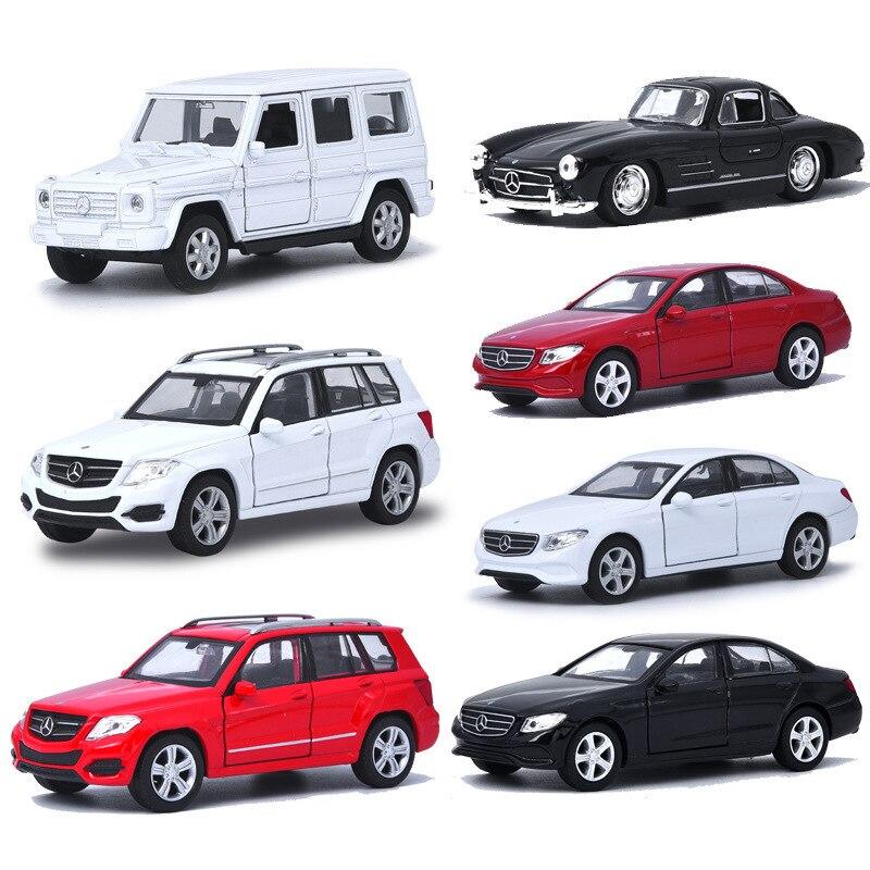 Wiley Scale 1 : 36 Alloy Automobile Alloy Metal Model Gclass 300sl Glk Eclass Warrior Door Openable Toys For Children HotWeels