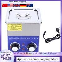 14l 10l 6l 3l 2l aço inoxidável 220v ultra sônico mecânico banho de limpeza aquecido & temporizador máquina do frasco de limpeza com cesta sonic