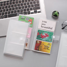 Sharkbang pp transparente 120 bits caso de cartão de negócios-titular do cartão passaporte-cartão de autocarro id cartão de armazenamento caso saco