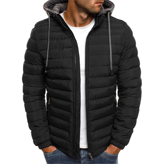 NaranjaSabor Fleece Parka Coat Mens 2020 Winter Thick Hooded Cotton Outwear Men Fashion Jacket Male Casual Brand Clothing N604 3