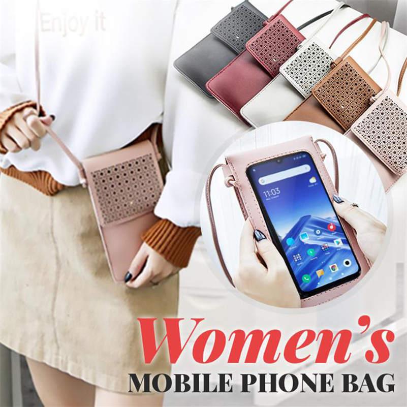 Womens phone bag Waterproof Touch Screen Crossbody Bag Multi function