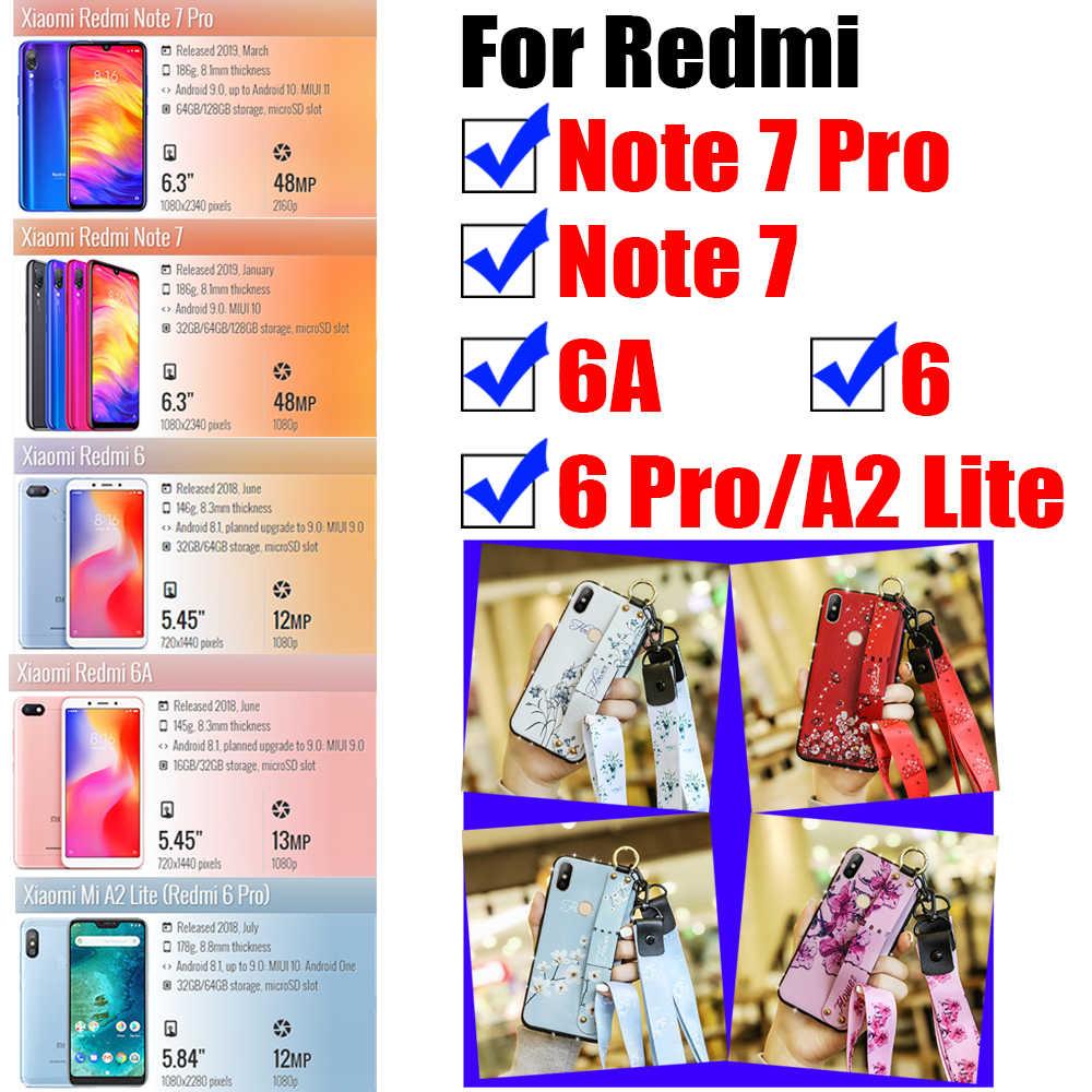 טלפון מקרה על עבור xiaomi redmi 6 6a הערה 7 פרו פגוש a2 לייט אור ksiomi לא 6pro 7pro כיסוי girly פרחוני