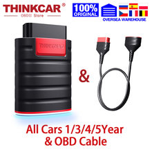 Thinkcar ThinkDiag Full OBD2 All System Diagnostic Tool ECU Coding Car Code Reader Scanner 15 Reset Service Actuation Test