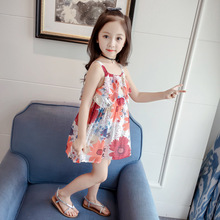 цены на Girl Dress Summer Print Frocks Prom Dresses Girls Fashion Teenage Clothing Cotton Girl Child Korean Kids Clothes  Girls Clothing  в интернет-магазинах