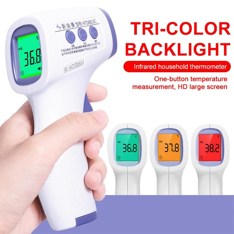 Non Contact Digital Infrared Thermometer Forehead Body Pyrometer Muti-fuction LCD High Precision Infrared Temperature Gun Medica