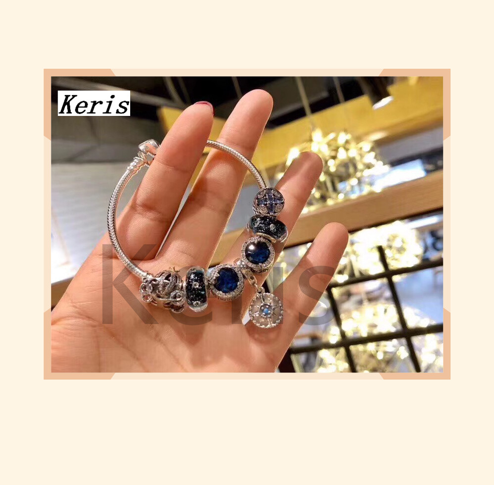 High Quality Reproduction 1:1 100%926 Sterling Silver Star Glazed Beads Pumpkin Car Bracelet Gifts Preferred Free Package