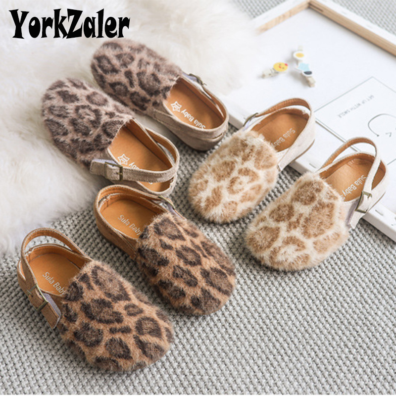 Yorkzaler Autumn Winter Kids Casual Shoes For Girls Keep Warm Printed Leopard Fashion Girl Shoes Elegant Toddler Baby Footwear