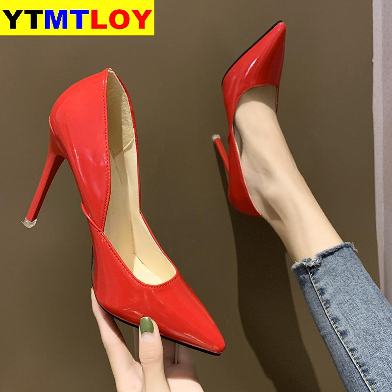 <font><b>Fetish</b></font> Luxury Designer Woman Extreme Mules Super High Heels Sandals Women Platform <font><b>Sexy</b></font> <font><b>Shoes</b></font> Ladies Pumps Red Prom Black <font><b>Shoes</b></font> image