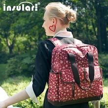 INSULAR Diaper Bag Multi-Function Large Capacity Shoulder Mummy Bag Portable Maternal Mummy Maternity Nappy Bag