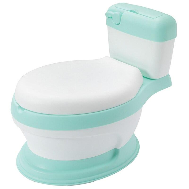 Детский горшок для унитаза, учебный горшок с мягким кольцом для сиденья, детский очень большой туалет, удобная спинка, милый мультяшный горшок