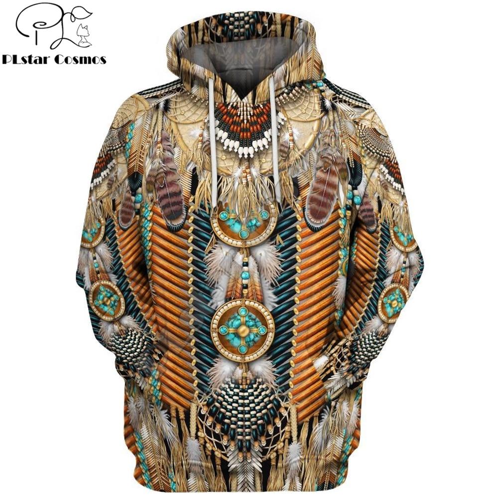 PLstar Cosmos 2019 Fashion Brand Hoodie Bohemia Style Native Feather 3D Print Hoodies Unisex Harajuku Streetwear Sudadera Hombre