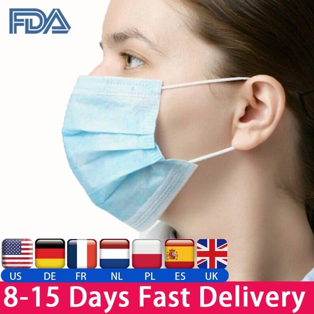 In Stock KN90 Face Mask Antivirus  Mask Anti Cononavirus  Respirator Flu  Infection Disposable
