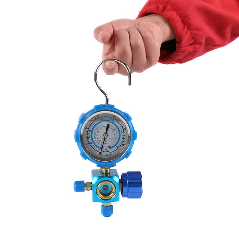 Refrigerant Manifold Gauge Manometer Valves Pressures Gauge Air Conditioner Tool R410a LKS99