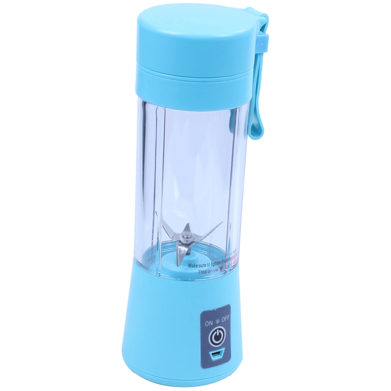 USB Juicer Cup  Mobile Juice Mixer  Household Fruit Mixer   Six Blades  400ml Fruit Blending Machine with USB Charger Cable|Juicers| |  - title=