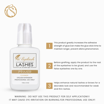 15ml Primer Eyelash Extension Eye Lash Cleaner Eyelash Primer Private Label korean Primer Eyelash Pre Eye Lash Treatment Cleaner