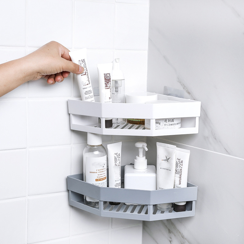 Triangular Corner Bathroom Shelf Shower Candy Bathroom Corner Rack Storage Bath Holder Organizer