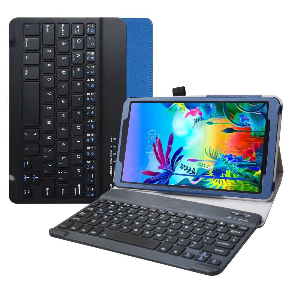 Para 10.1 lg g almofada 5 10.1 t600 tablet removível caso de teclado bluetooth
