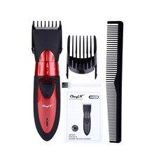 Máquina de cortar cabelo elétrica dos homens à prova dwaterproof água recarregável aparador barba barbeador navalha profissional máquina corte cabelo criança adulto