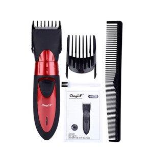 Image 1 - Tondeuse à cheveux électrique pour hommes, rasoir Rechargeable et étanche à tondeuse à barbe, idéal pour couper les cheveux pour enfants et adultes