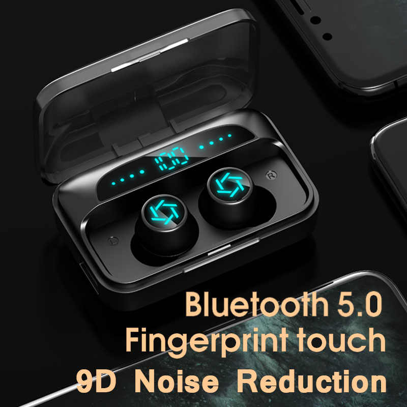 Hembeer Bluetooth Earphone Headphone Nirkabel Earbud Gaming Headset Audifonos Bluetooth Inalambrico Ecouteur dengan Mikrofon  for xiaomi iphone huawei mobile phone