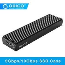 Orico m.2 nvme gabinete 10gbps pcie ssd caso m2 sata 5gbps tipo-c caixa externa móvel para 2230/2242/2260/2280 ssd