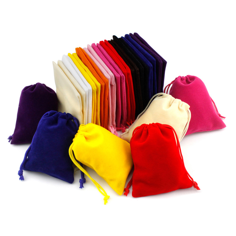 10 Pcs/lot 8x10cm Coloful Velvet Jewelry Bag Pouches Packaging Display Drawstring Packing Gift Bags & Pouches