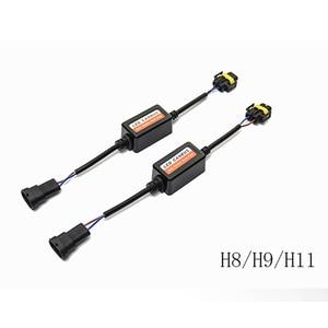 Image 2 - 2PCS H1 H11 H4 H7 LED 9005 9006 Canbus Car Headlight Decoder Wiring Adapter DRL LED Lamp Error Canceler Fog Light Canbus