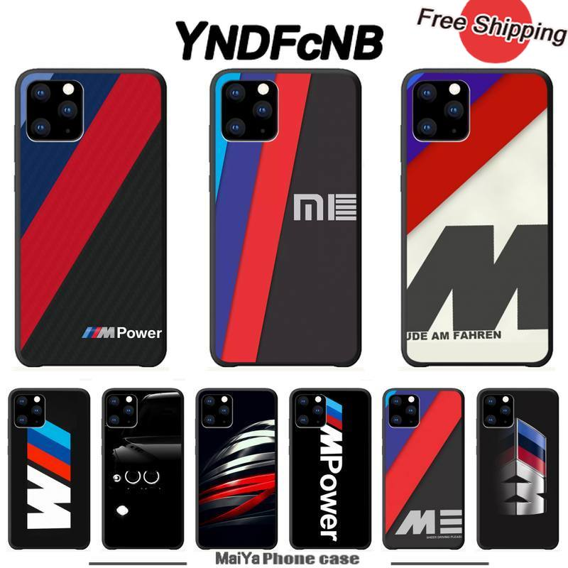 YNDFcNB Hot Car BMW Logo Luxury Phone Case Cases For Iphone 5s Se 2020 6 6s 7 8 Plus X Xs Max Xr 11 Pro Max Silicone Funda Coque image