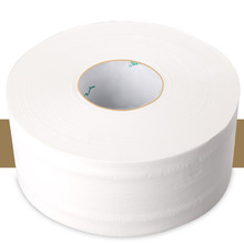 1 Roll Large Toilet Paper 4-Layer Jumbo Roll Native Wood Soft Toilet Tissue Pulp Home Rolling Paper Water Absorption