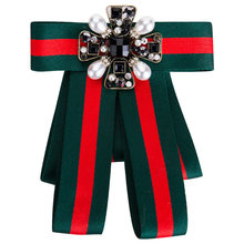 New Fashion Woman & Man Brooches Long Ribbon Big Stripe Bowknot Shirt's Bow Tie Pins Collar Accessories Corsage Brooch Jewelry fashion women ribbon brooches college black white stripe big brand red bee brooch pins for school girl corsage collar jewelry