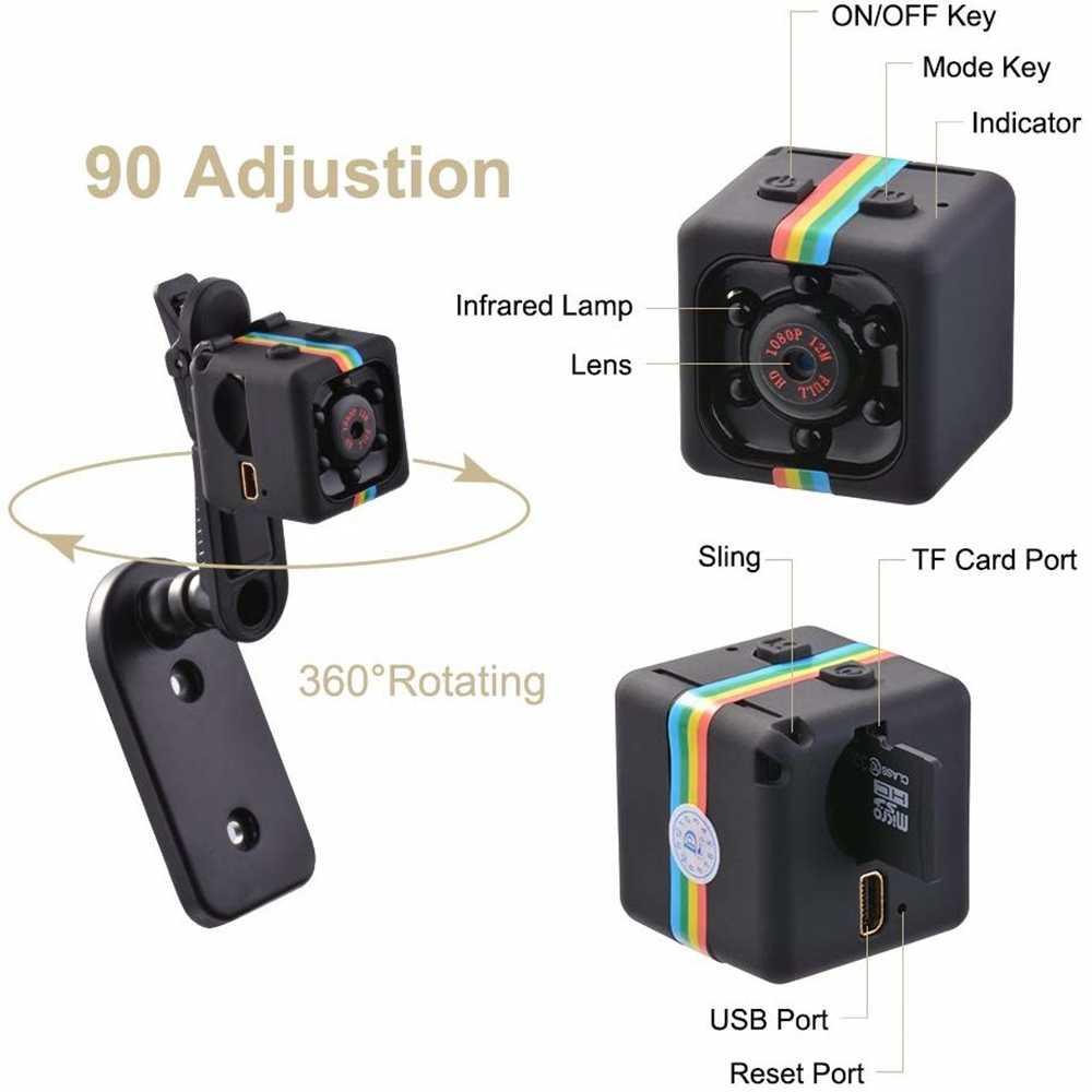 Mini cámara Sq11 HD 1080P, Sensor de visión nocturna, videocámara de movimiento DVR, Micro Cámara deportiva DV, videocámara pequeña, cámara SQ 11 Spycam
