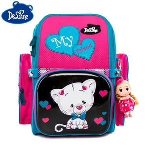 Школьный рюкзак для мальчиков и девочек; Ортопедические школьные сумки для девочек с 3D принтом; Детская школьная сумка для начальной школы; ...