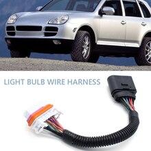 Headlight Lamp Bulb Adapter Converter Cable Headlight Bulb Wiring Harness for Porsche Cayenne HID Headlamp 955 631 239 11
