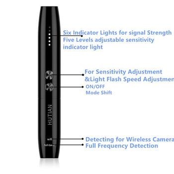 NewAnti Spy Camera Detector Pen Wireless RF Signal Eavesdropping Pinhole Hidden Cam Audio Bug GSM GPS Wiretapping Device Scanner 6