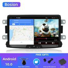 Bosion android 10.0 araç dvd oynatıcı Dacia Lodgy Logan Duster Sandero ile 1 din radyo gps video wifi navigasyon multimedya oynatıcı