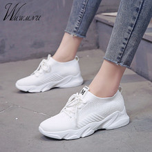 Casual White Women Mesh Knitting Sneakers Women New Casual Spring Summer Flat Breathable Sport Running Shoes Lace Up Shoes Black 2017 new fashion sport casual shoes women white brand classic lattice women shoes flat breathable casual superstar shoes women