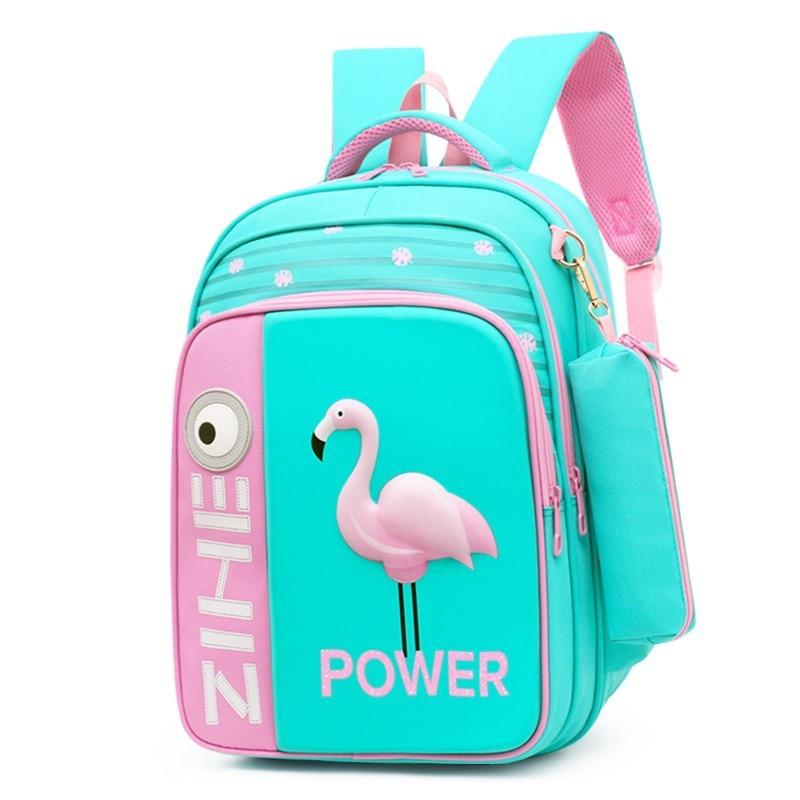 2020 New 3D Flamingo Cartoon School Bags For Girls Boys Shark Backpack Children Orthopedic School Backpacks Mochila Escolar
