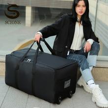 Unisex torba podróżna o dużej pojemności torby bagażowe na kółkach przenośne torby do przechowywania w ruchu opakowanie czarne torebki Oxford 2021 nowy XA275M tanie tanio scione CN (pochodzenie) Na co dzień 39cm Large capacity luggage bag 79cm torby podróżne WOMEN zipper SOFT 1 35kg 40cm