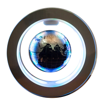 4 Inch Home Anti gravity World Map Auto Rotating Illuminated Gift Magnetic Levitation Desktop Floating Globe Earth Office Led
