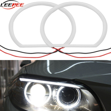 9-36V Car Angel Eyes Lights Headlight Lens Projector Halo LED Lamps Retrofit Auto Accessories Replacement Error Free For BMW E46
