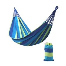 280*80mm 2 Persons Striped Hammock Outdoor Leisure Bed Thickened Canvas Hanging Bed Sleeping Swing Hammock For Camping Hunting