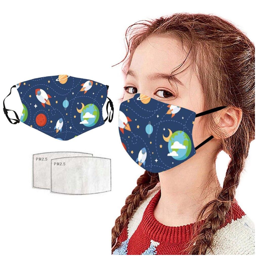 Children Cloth-Maks Mascarillas Hijab Scarf Kids Fashion Print Outdoor Sunscreen kid face maks reusable Flag Bandana