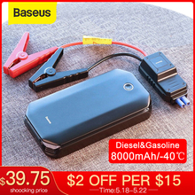 цена на Baseus Car Jump Starter Starting Device Battery Power Bank 800A Jumpstarter Auto Buster Emergency Booster Car Charger Jump Start