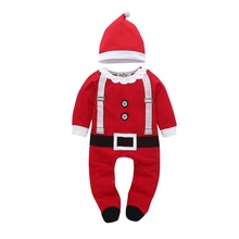 2019 New arrival cotton baby rompers long sleeve autumn clothes boys girls Christmas costume Santa jumpsuits D20
