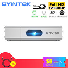 BYINTEK U50 Full HD 1080P Mini 2K 3D 4K Android Smart Wifi Portabel LAsEr Film Rumah LED proyektor DLP Proyektor Projector(China)