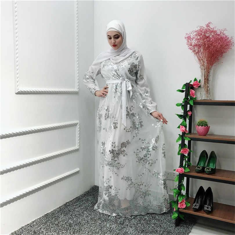 Hijab Abaya Femme Dubai Marocchino Turco Turchia Fasciatura Delle Donne Abito Musulmano Bangladesh Caftano Abbigliamento Islamico Caftano Nero Bianco